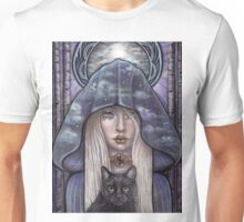 Nauthiz Rune Maiden black cat sorceress Unisex T-Shirt