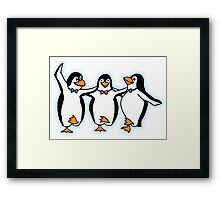 Penguin, Party, Dancing, Cartoon Framed Print