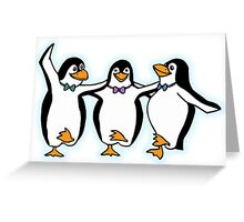 Penguin, Party, Dancing, Cartoon Greeting Card