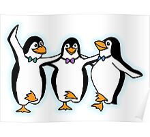 Penguin, Party, Dancing, Cartoon Poster