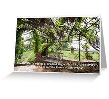 Solitude & Creativity Greeting Card