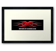 xxx return of xander cage Framed Print