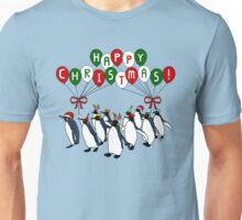 Happy Christmas March of Penguins Unisex T-Shirt