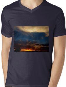 Sunray Sunset Mens V-Neck T-Shirt