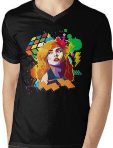 Blondie Pop Art 80's Design Mens V-Neck T-Shirt