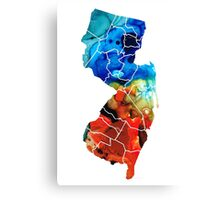 New Jersey - State Map By Sharon Cummings Canvas Print