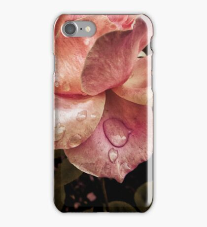 Rose petals with raindrops iPhone Case/Skin
