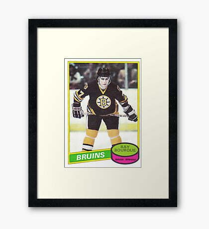 Ray Bourque Rookie Card Framed Print