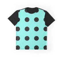 black polkadots on teal Graphic T-Shirt