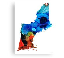 New England - Map By Sharon Cummings Canvas Print