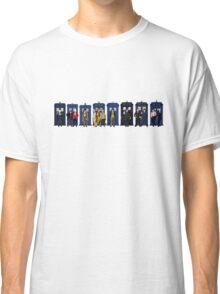 Doctor & Tardis Lineup Classic T-Shirt