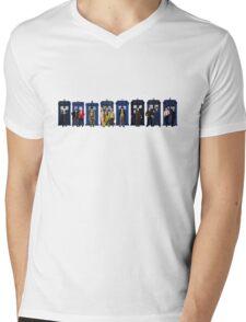 Doctor & Tardis Lineup Mens V-Neck T-Shirt