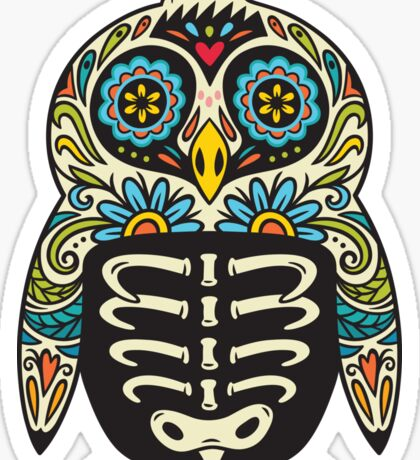 Sugar skull penguin  Sticker