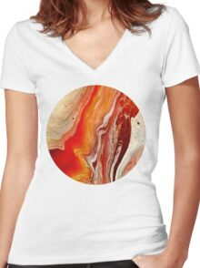 Liquid Acrylic 10 Women's Fitted V-Neck T-Shirt