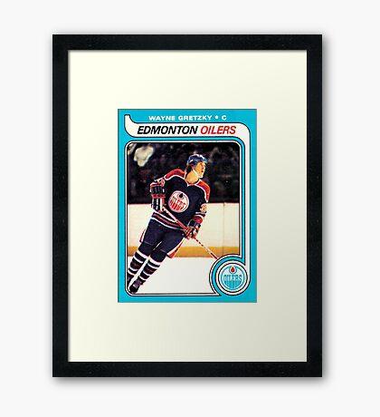 Wayne Gretzky Edmonton Oilers Hockey NHL Rookie Card  Framed Print