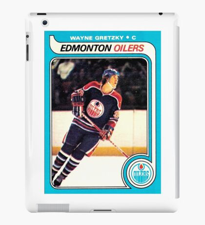 Wayne Gretzky Edmonton Oilers Hockey NHL Rookie Card  iPad Case/Skin