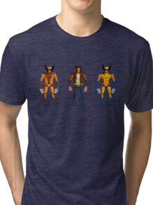 Wolverine Pixel Art Tri-blend T-Shirt