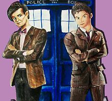 Doctor Who - Ten, Eleven and the Tardis by callmeanca