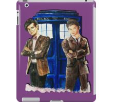 Doctor Who - Ten, Eleven and the Tardis iPad Case/Skin
