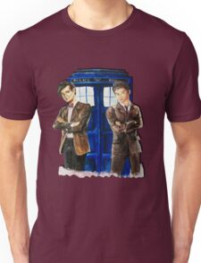Doctor Who - Ten, Eleven and the Tardis Unisex T-Shirt