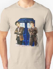 Doctor Who - Ten, Eleven and the Tardis T-Shirt