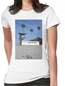San Diego beach lifeguard station Womens Fitted T-Shirt