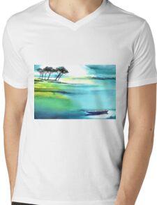 Blue Lagoon Mens V-Neck T-Shirt