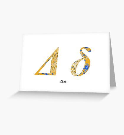 Delta Greek Alphabet Greeting Card