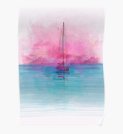 Peaceful Boat Poster