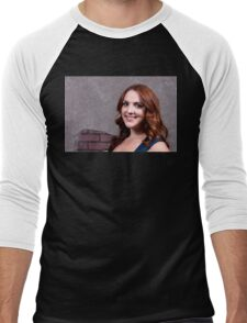 Woman Red Hair Men's Baseball ¾ T-Shirt