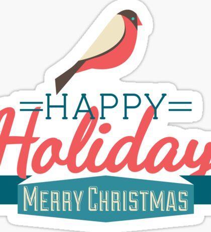 Happy Holiday Sticker