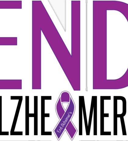 End Alzheimer's Ribbon Sticker