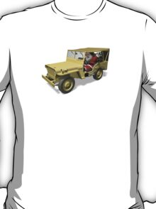 Santa Claus In Willys Jeep T-Shirt