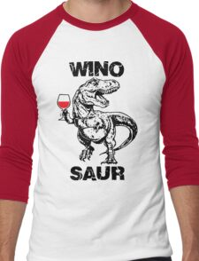 Winosaur Dinosaur Funny Men's Baseball ¾ T-Shirt