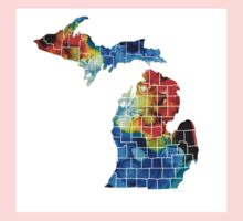 Michigan State Map - Counties By Sharon Cummings Kids Clothes