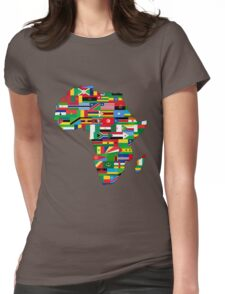 Africa Flags Map Womens Fitted T-Shirt