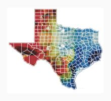 Texas Map - Counties By Sharon Cummings Kids Clothes