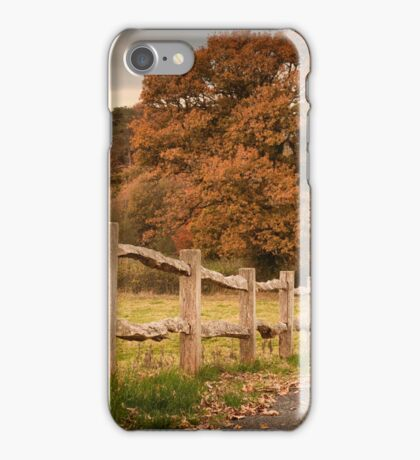Rustic wooden fence iPhone Case/Skin
