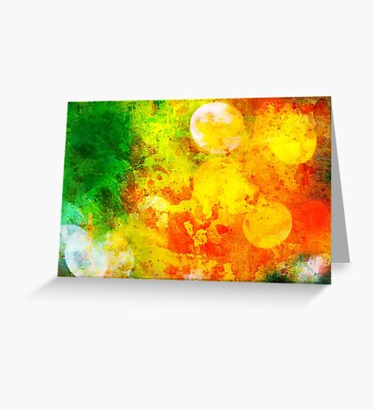 Colorful and smeared Greeting Card