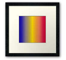 Stripes Gradient - Blue   Yellow   Red Framed Print