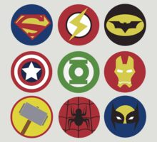 SUPERHEROES´ LOGOS by electradesigns