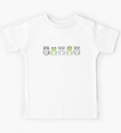 Raccoon, Frog, Lanky Dog, Prince, Dog Blue Kids Tee