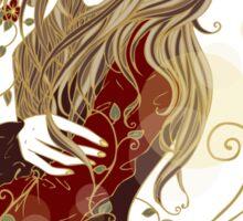 Red Gold Flower Sticker