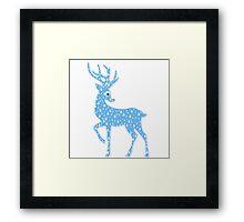 Red Nose Rain Deer Framed Print