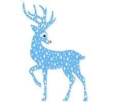Red Nose Rain Deer Photographic Print