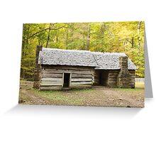 Ephraim Bales Cabin Greeting Card