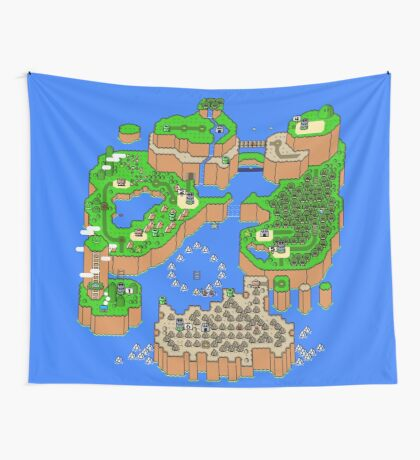 Super Mario World Map Wall Tapestry