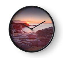 Sunrise over Bracelet Bay Clock