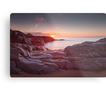 Sunrise over Bracelet Bay Metal Print
