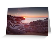 Sunrise over Bracelet Bay Greeting Card